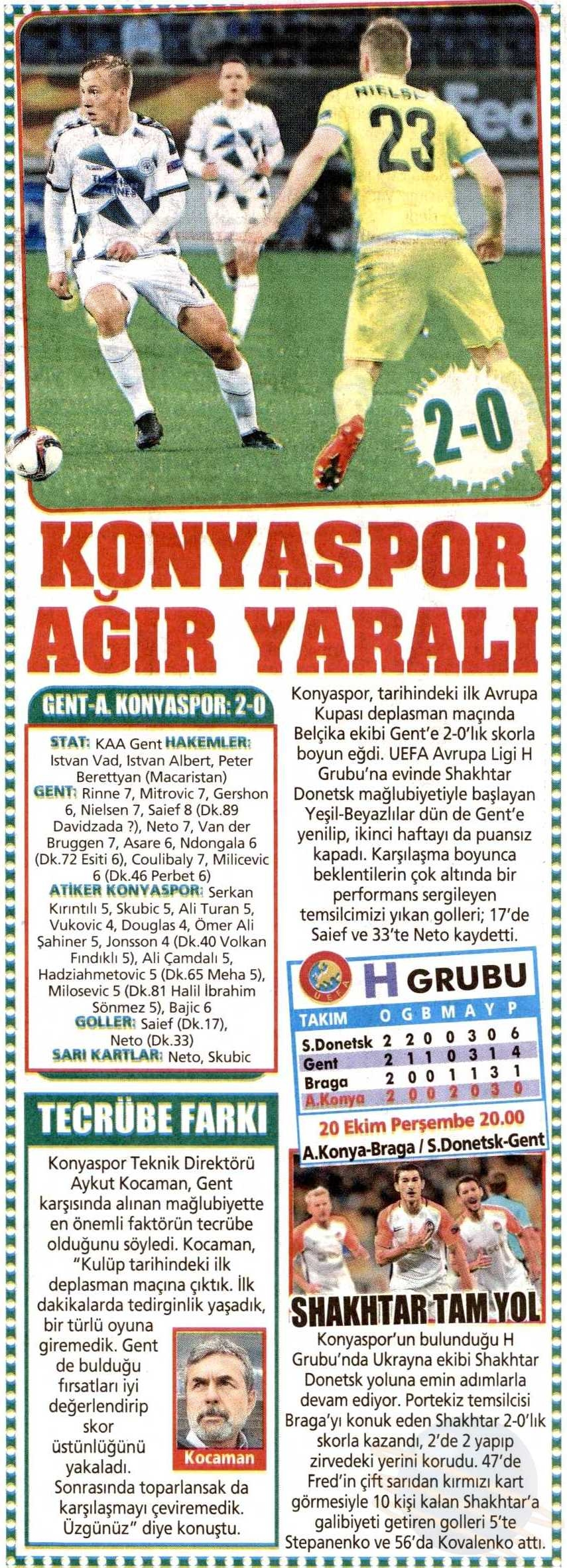 KAA Gent-Atiker Konyaspor maçının basına yansımaları 12