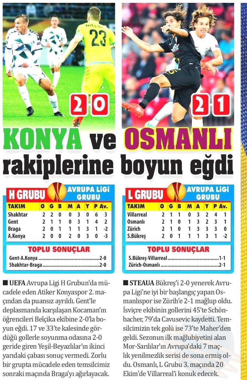 KAA Gent-Atiker Konyaspor maçının basına yansımaları 15
