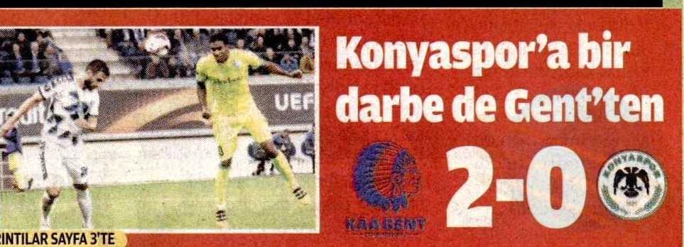 KAA Gent-Atiker Konyaspor maçının basına yansımaları 7