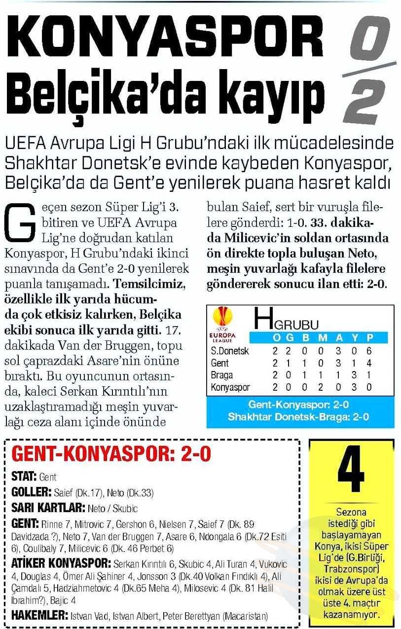 KAA Gent-Atiker Konyaspor maçının basına yansımaları 8