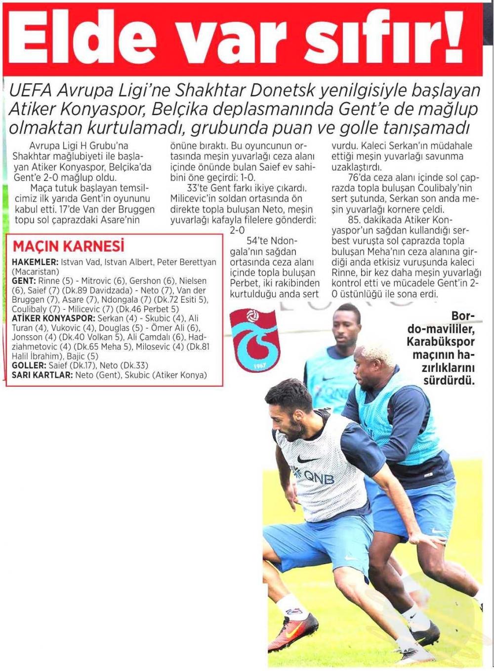 KAA Gent-Atiker Konyaspor maçının basına yansımaları 9