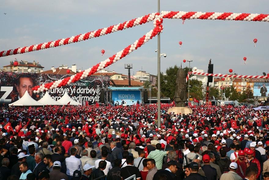 Konya Erdoğan'ı bağrına bastı 1
