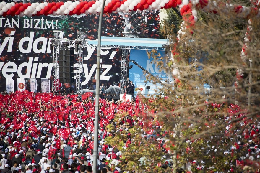 Konya Erdoğan'ı bağrına bastı 11