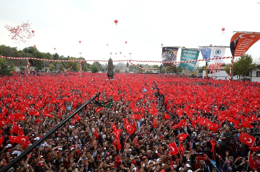 Konya Erdoğan'ı bağrına bastı 20