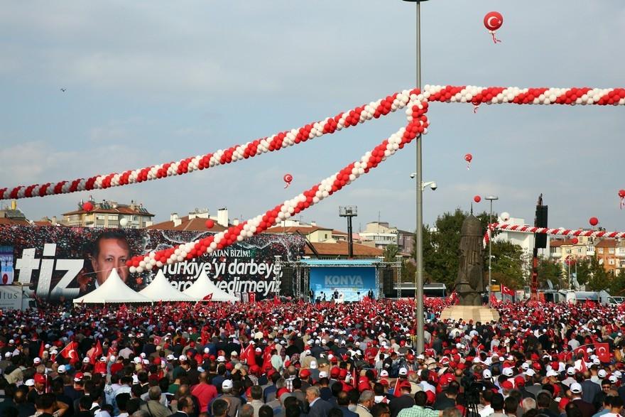 Konya Erdoğan'ı bağrına bastı 3