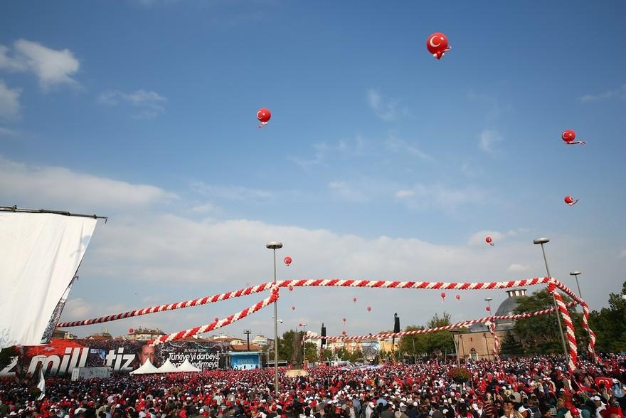 Konya Erdoğan'ı bağrına bastı 6