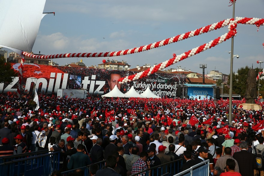 Konya Erdoğan'ı bağrına bastı 7