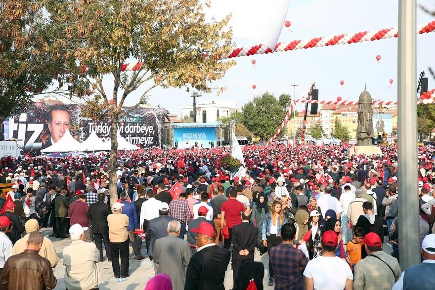 Konya Erdoğan'ı bağrına bastı 8