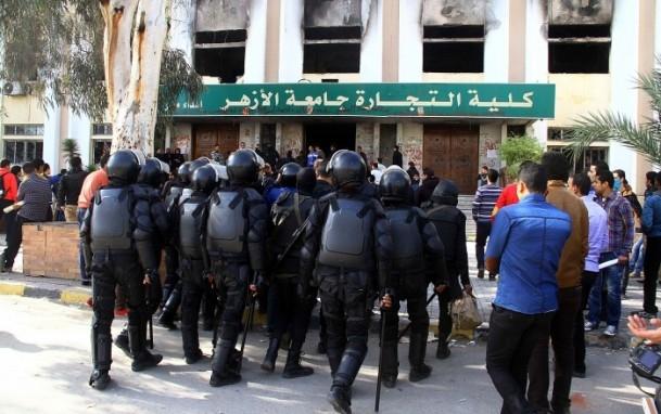 Ezher'de darbe karşıtlarına polis müdahalesi 20