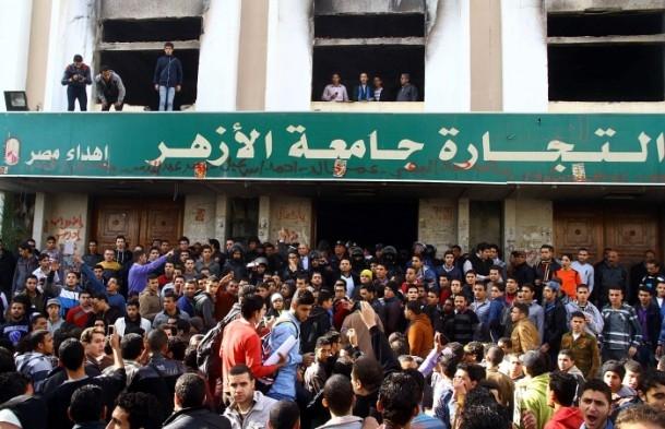 Ezher'de darbe karşıtlarına polis müdahalesi 8