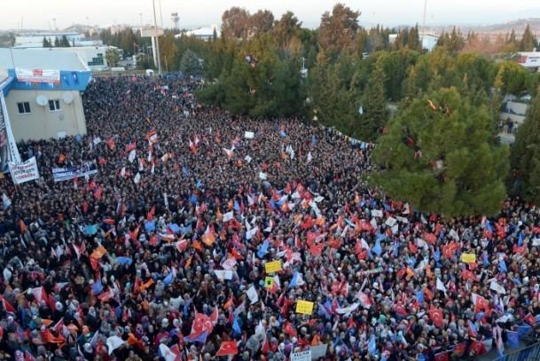 Başbakan Erdoğan'a İzmir'de dev karşılama 17