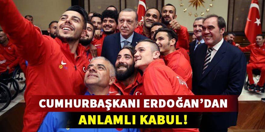 Cumhurbaşkanı Erdoğan'dan anlamlı kabul