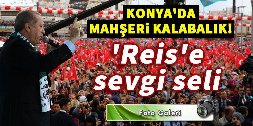 Konya'da 'Reis'e sevgi seli!