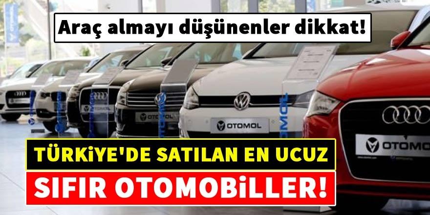 Türkiye'de satılan en ucuz sıfır otomobiller 1