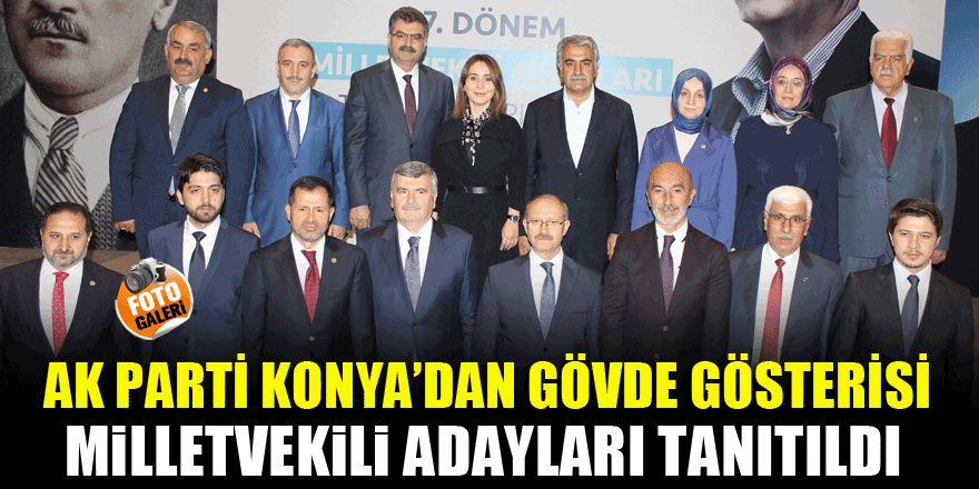 AK Parti Konya Milletvekili Adayları tanıtıldı
