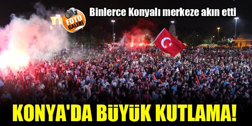 Erdoğan'ın zaferi Konya Kılıçarslan Şehir Meydanı'nda kutlandı