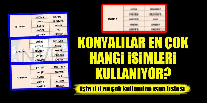 Türkiye'de en çok kullanılan isimler belli oldu