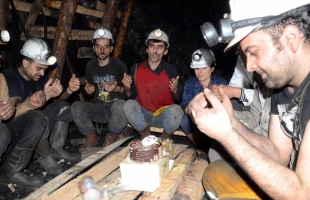 Maden ocağında yeni yıl 2