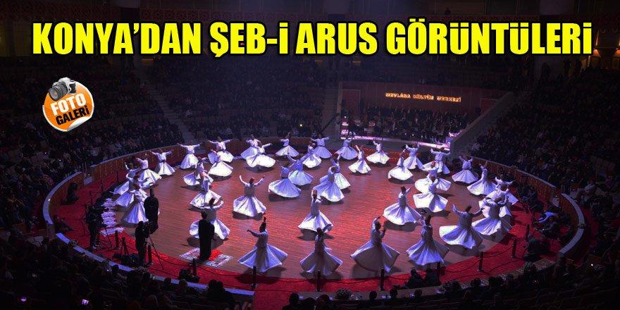 Konya'dan Şeb-i Arus görüntüleri