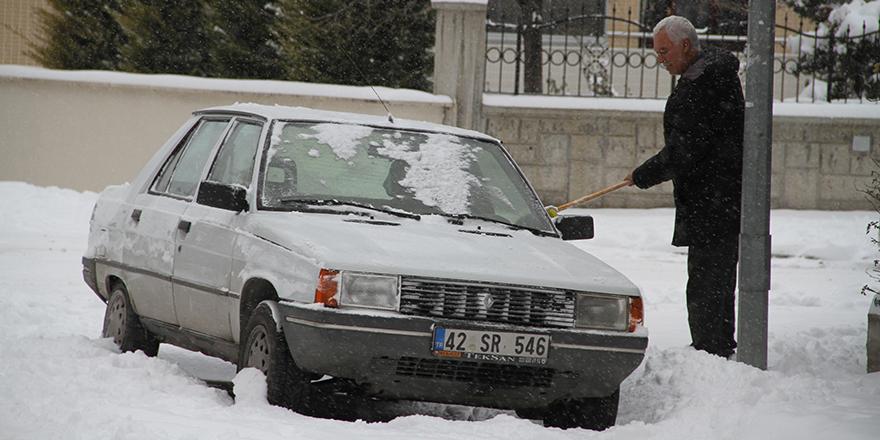 Konya karla şenlendi 1
