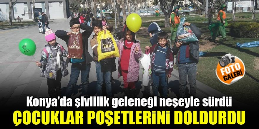 Konya'da şivlilik geleneği neşeyle sürdü, poşetler doldu!