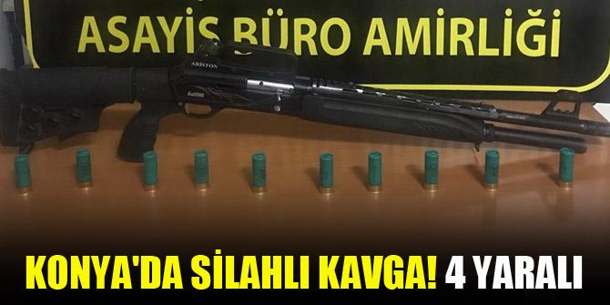 Konya'da silahlı kavga! 4 yaralı