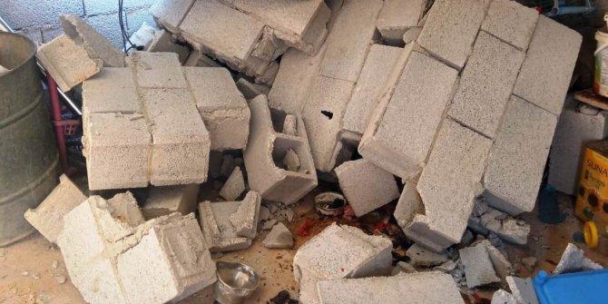 Çöken duvarın altında kalan kadın yaralandı