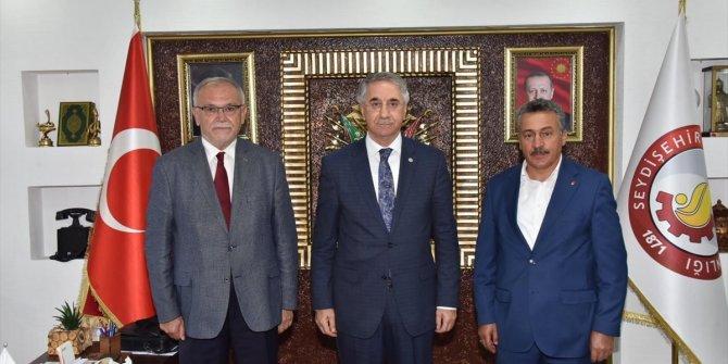 Mücahit Yanılmaz'dan Seydişehir Belediye Başkanı Tutal'a ziyaret