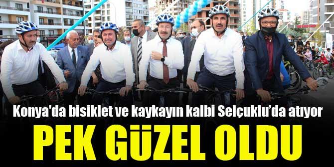 Konya'da bisiklet ve kaykayın kalbi Selçuklu'da atıyor