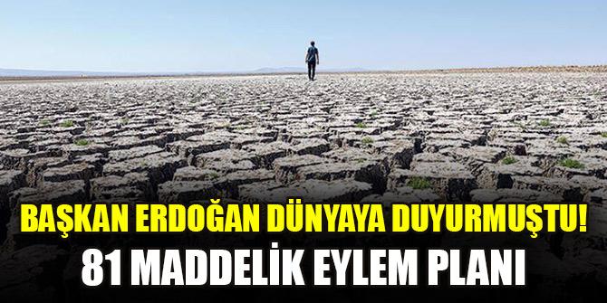 Başkan Erdoğan dünyaya duyurmuştu! 81 maddelik eylem planı