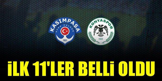 İşte Konyaspor'un Kasımpaşa ilk 11'i