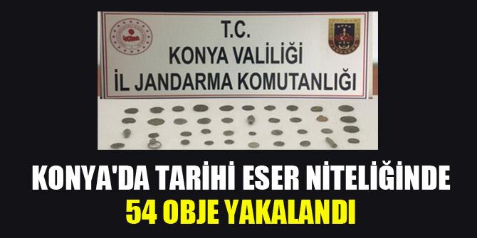 Konya'da tarihi eser niteliğinde 54 obje yakalandı