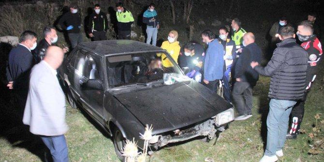 Polisten kaçan sürücü kaza sonrası silahla vurulmuş halde bulundu