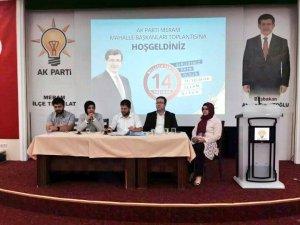 Ak Parti Meram'da Mahalle Başkanları Toplantısı gerçekleştirildi