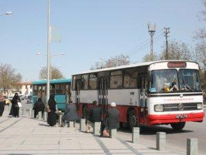 Konya'da otobüs ve tramvay ücretsiz