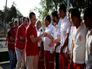Kızılay'dan Gazze'ye ilk yardım istasyonu