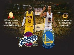 Cavaliers ilk, Warriors beşinci şampiyonluğu istiyor