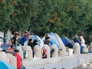 Sisam'daki göçmen kampında kavga