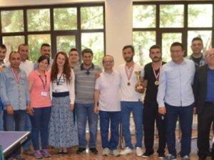 MEDAŞ çalışanları arasında masa tenisi turnuvası