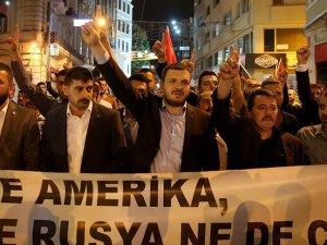 İstanbul'da 'Rusya' protestosu
