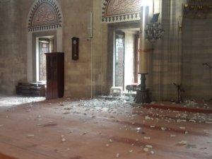 Bombalı saldırı sonrası Şehzade Camii bu hale geldi