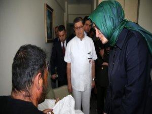 Aile Bakanı Kaya'dan Binbaşı Tetik'e ziyaret