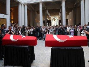 Hayatını kaybeden İstanbul Üniversitesi personeli ve eşi için tören düzenlendi