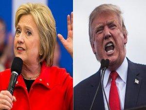 Başkanlık yarışında Clinton ve Trump karşı karşıya