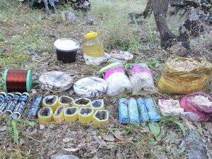 Batman'da PKK'nın patlayıcı deposu bulundu