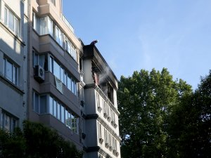Cihangir'de apartmanda patlama