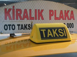 Takside sahte plakayla kiralama vurgunu