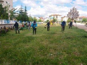 Beyşehir'in parkları yaz dönemine hazır