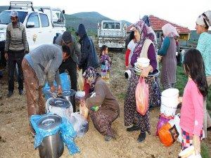 Yaylaya 'iftarlık ve sahurluk' servisi