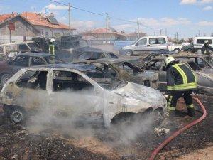 Konya'da 70 araç kül oldu